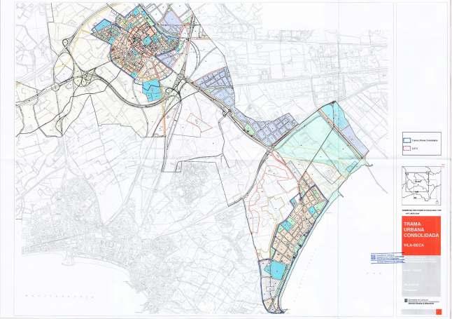 Delimitación Trama Urbana Consolidada - 2011 Vila-seca (Tarragona)