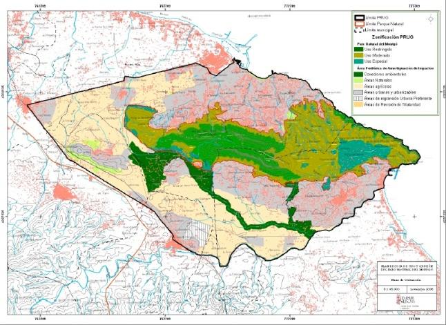 plano ordenacion -Parc Natural Montgo.