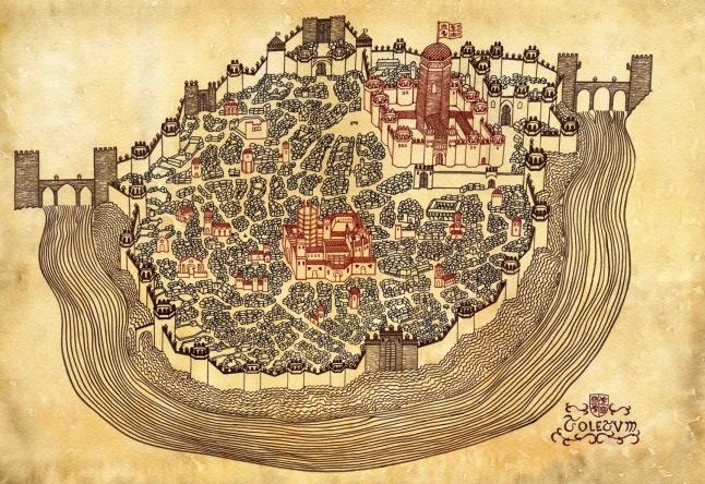 1.14 - Plano de Toledo - Dibujo a tinta (David Temprano)