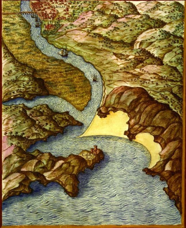 AVILÉS. Texeira dibujó cientos de mapas, desde una perspectiva imposible para aquellos tiempos. En Avilés se recrea en la profundidad de la ría..jpg