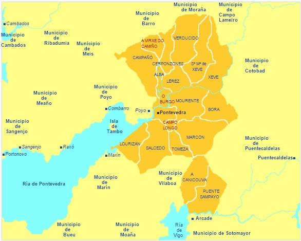 distritos Pontevedra