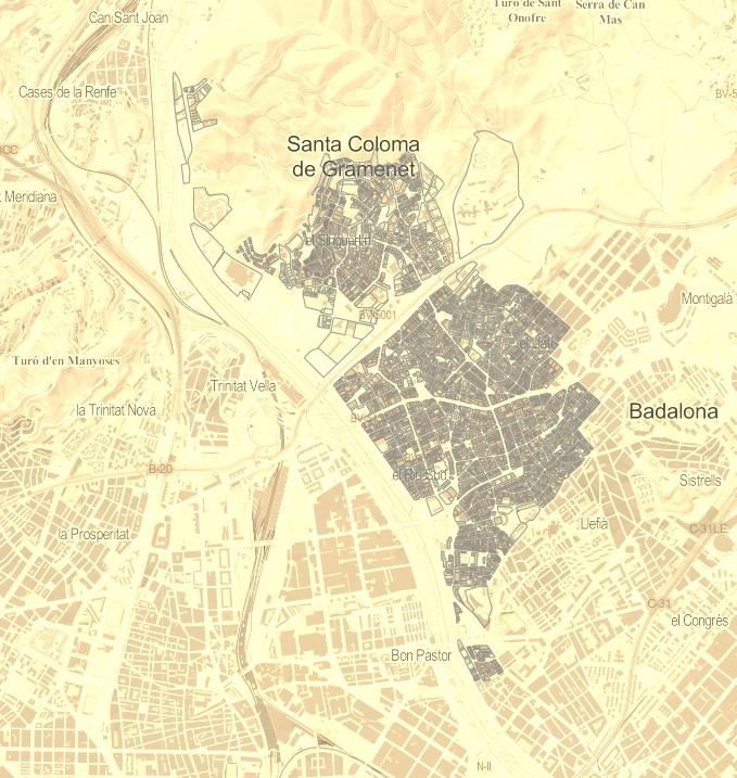Santa Coloma De Gramenet Segun Catastro A 1 1 2015 Por Tamano Y
