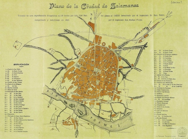 Plano Rafael Flores 1890