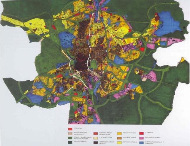 Plano estructura y zonificacion PGOU:AMM 1963.jpg