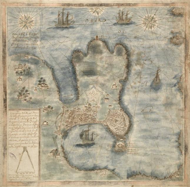 1639 Plano_da_Coruña_Coruña_de_Santans_y_Tapia,_1639.jpg