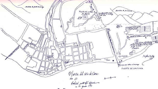 1599 Plano Las Palmas Propero Casola 1599 Museo Canario.jpg