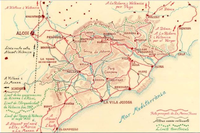 mapa rutas históricas de la Marina.JPG