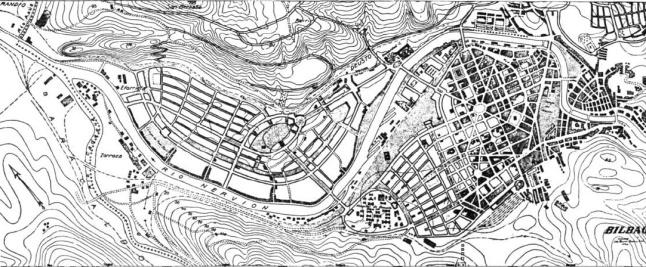 1926 Anteproyecto de plan de extension de Bilbao por O Bunz y F GarciaMercadal.jpg