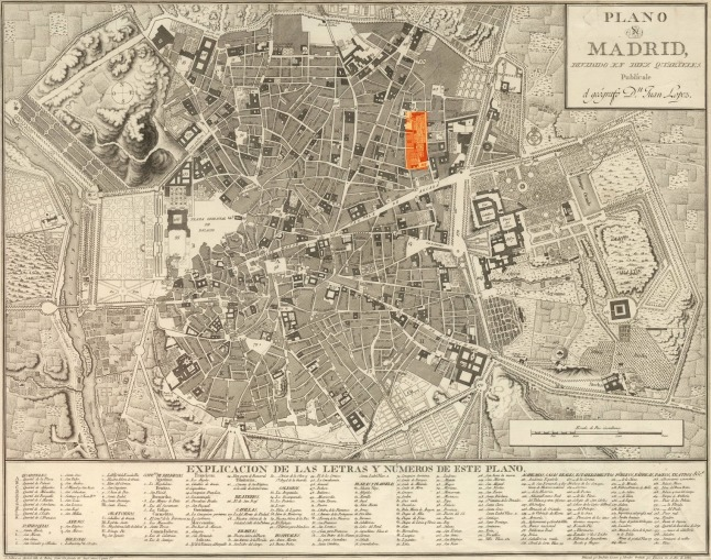 1812 Mapa de Madrid de Juan López Frías Color.jpg