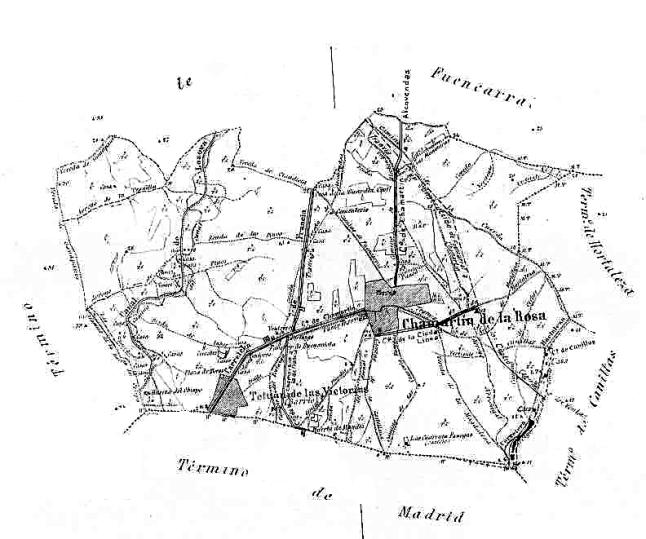 Plano_del_pueblo_de_Chamartín_de_1885