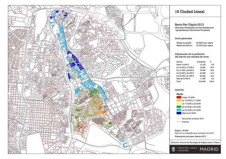 Ciudad Lineal Madrid Mapa.Madrid Distrito 15 Ciudad Lineal Otropunto De Vista